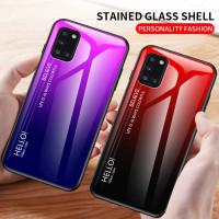 Gradient Glass Case Samsung Galaxy A31 SamsungA31 Casing HP