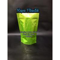 Standing Pouch aluminium foil Kombinasi Zippee Green 14x22cm