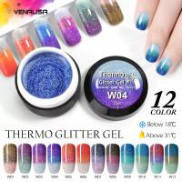 VENALISA Kutek Glitter Platinum Thermo Mood