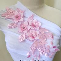 Patch Bordir Bunga Motek Aplikasi Baju Jahit Renda Lace 3D Import