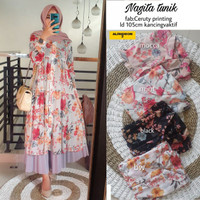 tunik bangkok nagita midi dress zara