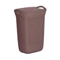 Keranjang Cucian / Laundry Basket Motif Anyaman Rotan - Olymplast OLB