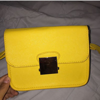 zara mini bag yellow