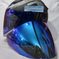 Visor Flat Venom Open Blue PNP DJ Maru KYT Galaxy Slide INK Centro