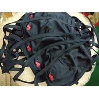 Masker polo original navy color - kain Jersey