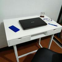 SET WFH KURSI MEJA kantor laci minimalis custom 100x50 kaki hollo