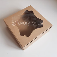 Cake Box 22 Brown / Gable Box / Box Tart / Box Kue