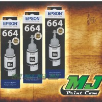 TINTA PRINTER EPSON 664 BLACK-L100-L110-L120-L200-L220-HITAM - Hitam