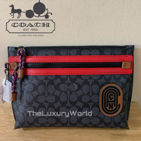 Coach Academy Pouch in Signature Canvas - Original 100%