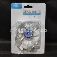DeepCool XFan 80 L/B Transparent Fan Frame Blue LED - Fan Case 8 cm