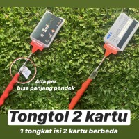 TONGTOL 2.0 ISI 2 KARTU Tongkat e toll flazz tapping card kartu tol