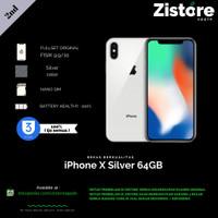 iPhone X 64GB Silver Ex Inter Mulus Fullset