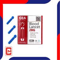 Gea Blood Lancet 28 G Size 100 pcs