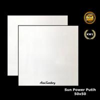 Keramik Lantai 50x50 Putih Polos merk Sun Power Kw1