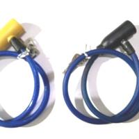 Kunci sepeda dan helm kabel baja