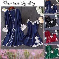 Sleepwear Lingerie Allicia Outer Laces Kimono Include Bikini & Belt