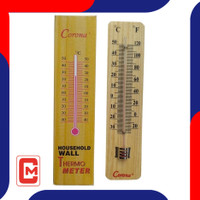 Termometer Dinding Tembok Kayu Corona