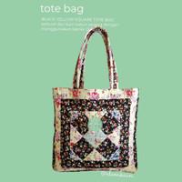 Tas - Black Yellow Square Tote Bag Elemka