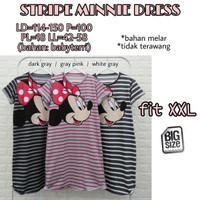 Stripe Minnie Dress fit XXL Baju Terusan Wanita Size Jumbo