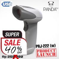Barcode Scanner Laser Tangan 1D PANDA PRJ-222 (w) USB best for JNE-JNT
