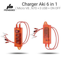 CHARGER HP AKI MOTOR WITH PROTECT 3 PORT CASAN ACU
