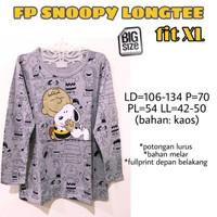 FP Snoopy Longtee fit XL kaos lengan panjang wanita lucu cute