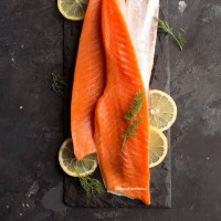 Norwegian Salmon Belly Fillet Daging Perut Salmon