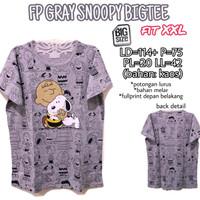 FP Gray Snoopy Bigtee XXL Kaos Jumbo Wanita