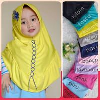 Jilbab Anak Bunga Rantai - Hijab Jilbab TK 4-7Th - Kerudung Anak