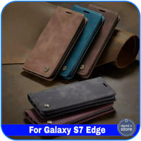 Casing Samsung Galaxy S7 Edge S 7 Edge Flip Case Leather Cover Dompet