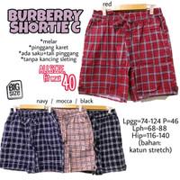 B*rberry Shortie C size 40 Celana Pendek Rumah Wanita Ukuran Big