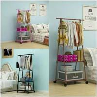 Stand Hanger Triangle Buku / Rak Pakaian / Rak Baju / jemuran berdiri - Putih