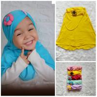 Jilbab Anak Bayi Bunga Kerut - Hijab Jilbab Bayi 0-3th - Kerudung Bayi