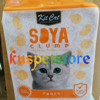 pasir gumpal kucing soya clump peach 7 L