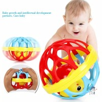 Mainan Bayi Soft Ball Bola Kerincingan Rattle Ball Teether