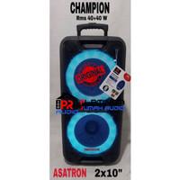 Speaker Portable ASATRON Champion 2x10 inch ORIGINAL Meeting Wireless