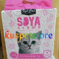 pasir kucing soya clump strawbery 7L