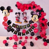 Set paket balon mickey minnie birthday ulang tahun karakter