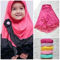 Jilbab Anak Bayi Renda Polka - Hijab Jilbab Bayi 0-3th - Kerudung Anak