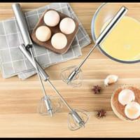 Hand mixer otomatis ( manual ) stainless steel