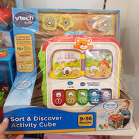 vtech baby sort and discover activity cube/jastip mainan kidzstasion