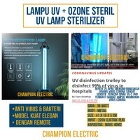 lampu sterilisasi virus bakteri / UV Lamp Sterilizer Ozone