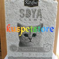 Pasir Kucing Gumpal/ Pasir Kucing Kit Cat Soya Clump Charcoal 7L