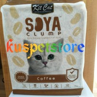 Pasir Kucing Gumpal/ Pasir Kucing Kit Cat Soya Clump Coffee 7L