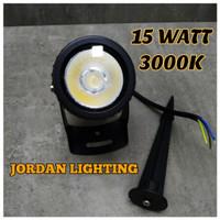 Lampu Taman Tancap LED Sorot 15 Watt Outdoor - Kuning