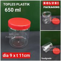 TOPLES PLASTIK 650ml BULAT/TOPLES MIKA BOTOL SELAI SAMBAL KUE KERING