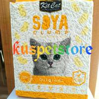 Pasir Kucing Gumpal/ Pasir Kucing Kit Cat Soya Clump Original 7L