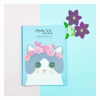 Buku tulis kucing lucu - purple