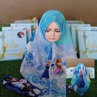 Jilbab Anak Segiempat Motif Frozzen