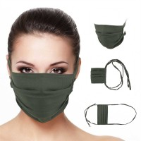 Masker Kain Save-Us PS 600, warna army, bahan wolly crepe